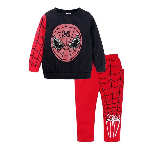 Shangku Kids Boy's Suit New Style for Autumn and Winter Cartoon Chao Man Spider Xia Children's Clothes 6