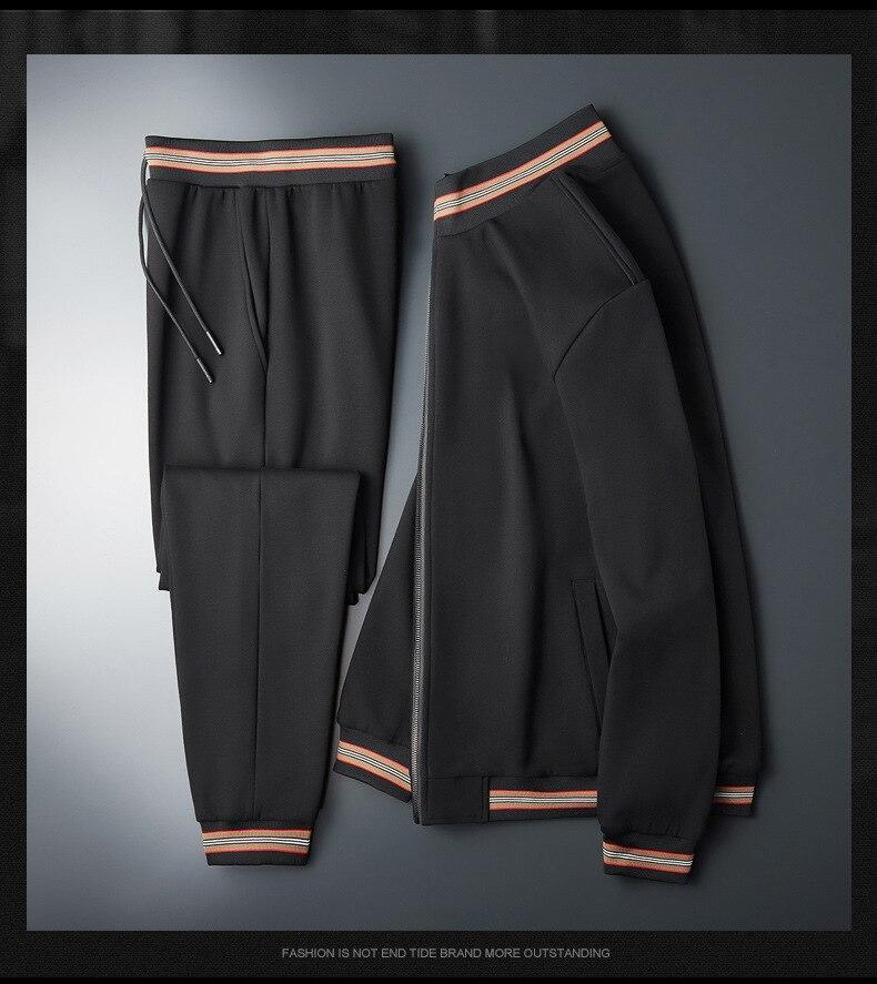 Plus velvet thick sweater men's casual suit autumn and winter plus fat plus size men's loose fat jacket sportswear M-7XL
