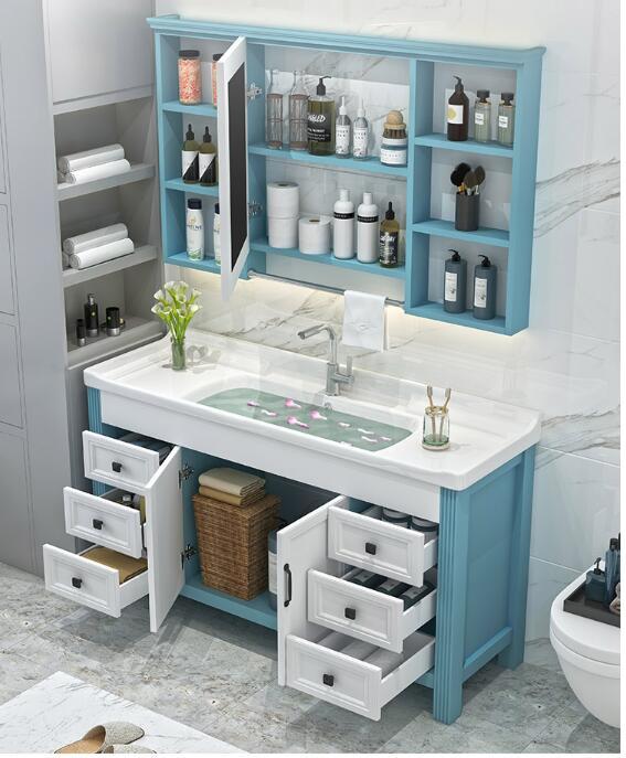 Bad schrank waschbecken waschbecken schrank kombination einfache moderne stand wc kleine wohnung licht luxus washba