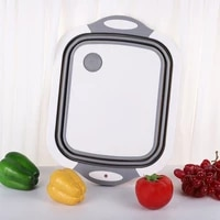 multifunctional cutting board folding cutting board sink drain basket used for filters to rinse salad fruits vegetables