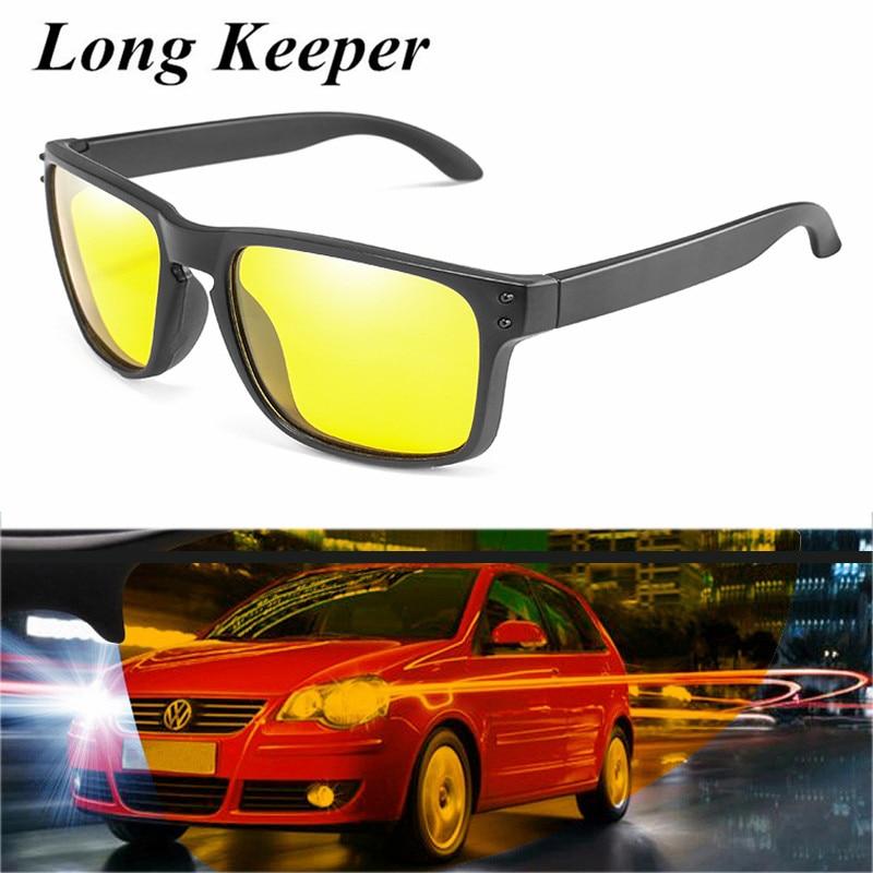 Gafas de sol Unisex polarizadas de visión nocturna para hombre, lentes amarillos Retro, lentes de sol para dama, gafas de sol de conducción segura UV400