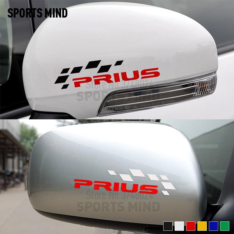 10 pares deportes mente coche-estilo espejo retrovisor automóviles coche calcomanía pegatina para Toyota Prius TRD JDM accesorios exteriores