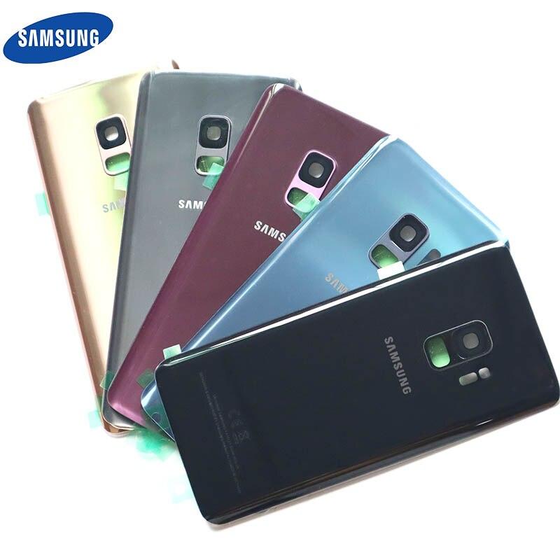 サムスンギャラクシー S9 プラスバックバッテリーカバー三星 S9 + G965 SM-G965F G965FD S9 G960 SM-G960F G960FD バック背面ガラスケース