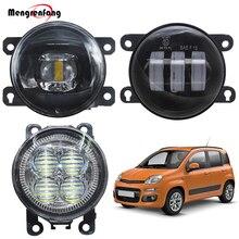 Lente LED de coche, montaje de luz antiniebla para Fiat Panda 2012 2013, faro antiniebla delantero para automóvil, luz de circulación diurna DRL 12V, accesorios