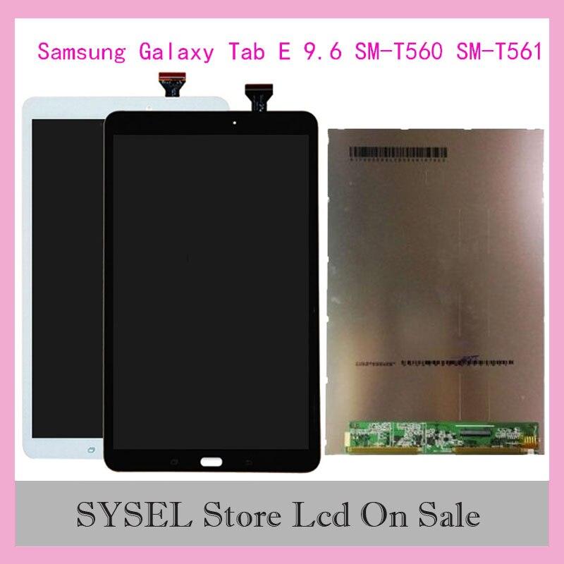 """9.6 """"para samsung galaxy tab e 9.6 SM-T560 SM-T561 t560 t561 toque digitador da tela de vidro display lcd peças substituição"""