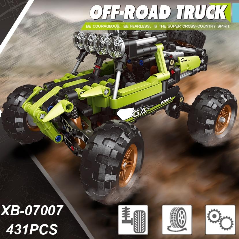 07007 técnica serie de coches Off-road camión bloques de construcción Buggy modelo...