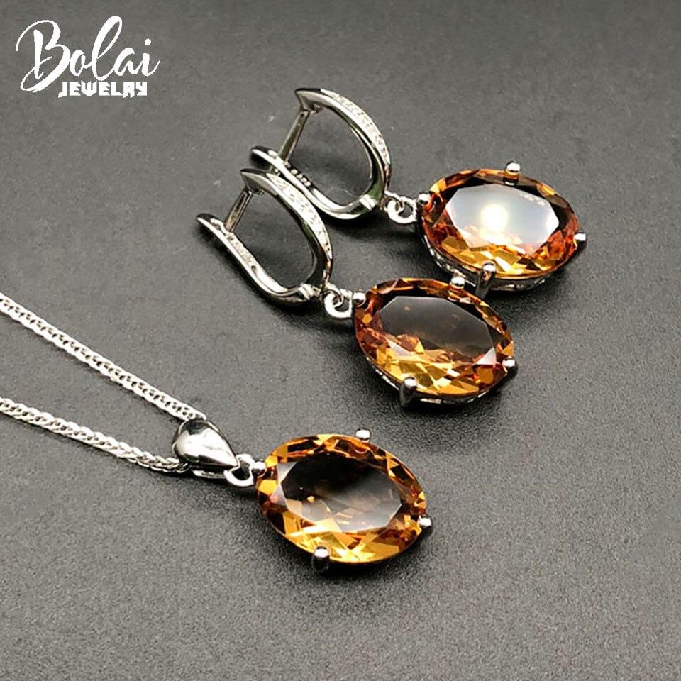 Bolai, conjuntos de joyería de sultanit con cambio de color, Plata de Ley 925 ov 14*10mm, pendientes de diáspora creados, colgante de piedras preciosas para mujer