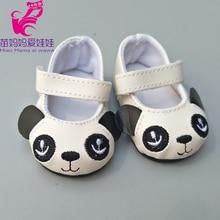 Convient pour 43 cm poupée dessin animé Panda chaussures simples convient pour 18 pouces fille poupée jouet bottes poupée accessoires