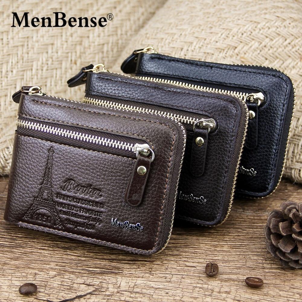 Мужской кожаный кошелек, натуральный кошелек, винтажные короткие мужские кошельки на молнии, популярный мужской кошелек, кошелек для денег,...