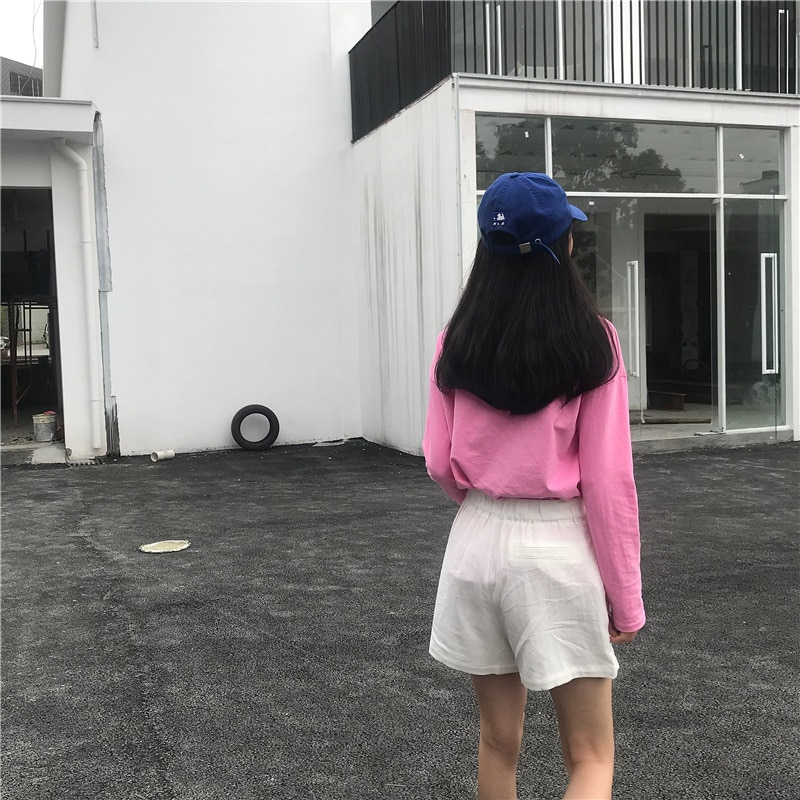 Fashion 2021 Summer Women Casual Loose Shorts Korean High Waist Thin Straight Wide Leg Shorts Female Solid All-match Streetwear  - buy with discount