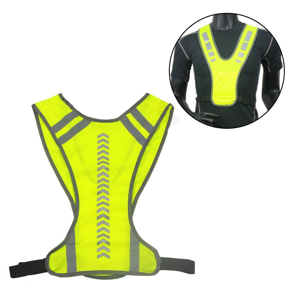 Reflective Vest Reflective Stripes Safety Vest Night Cycling Running Jogging Safety Jacket