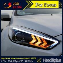 Coque de phares pour Ford Focus   Phare de style voiture, HID Rio 2015 Ford Focus, lentille bi-xénon, faible faisceau