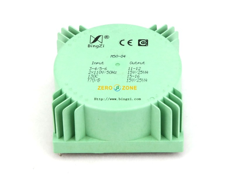 1PCS 50VA bingzi Green Cube Sealed audio Transformer HIFI PSU power transformer