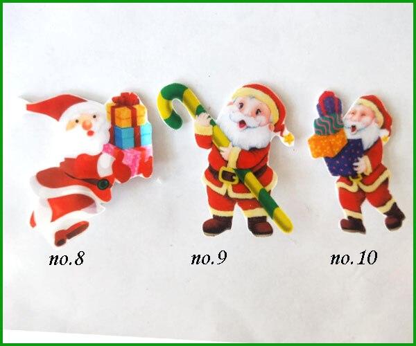 مشبك شعر جيد للفتيات 1000 بوصة ، أحذية عيد الميلاد ، بابا نويل ، 2.75