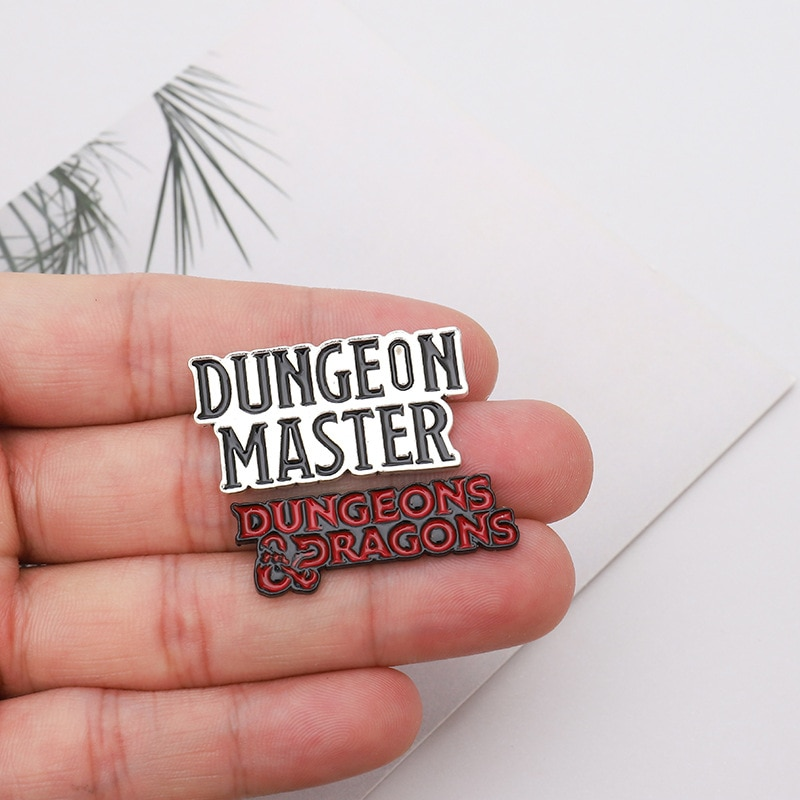 Punk DnD Dungeon Master Dungeons and Dragons Enamel pin Custom Brooch Bag Clothes D20 Badges Role pl