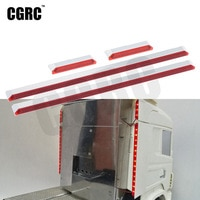 4pcs CNC Aluminum Alloy LED Flank Light Rear Side Light For 1/14 Tamyia Rc Truck Scania 620 56323 730 DIY Part