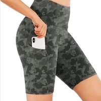 woman sport clothing cycling summer shorts with pocket high waist leopard fitness casual active short workout running exiercese