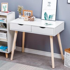 90X45X77CM White Minimalist Desk Laptop Desk Study Office Portable Modern Minimalist Writing Desk Student Bedroom Furniture HWC