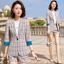 Plaid Suit Female Korean-style 2021 Spring and Summer New Business Suit Fashionable Stylish Little S