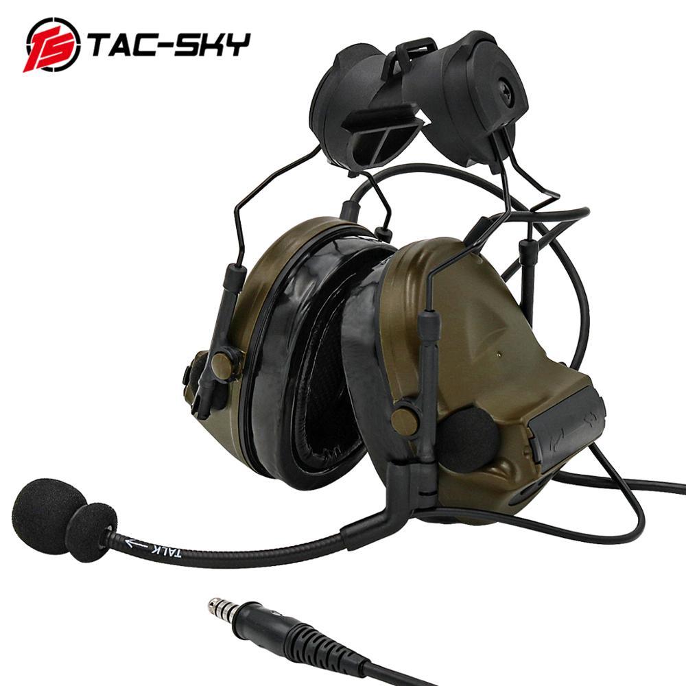 TAC -SKY Tactical COMTAC COMTAC II Helmet Bracket Silicone Earmuff Noise Reduction Pickup Tactical Headphones Comtacii FG enlarge