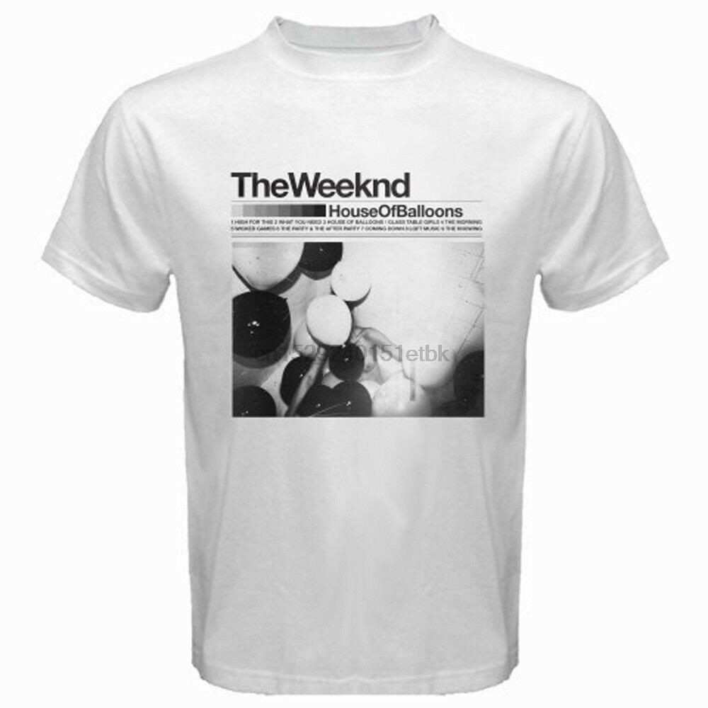 The Weeknd House of Baloons XO Music Show Mens White T-Shirt S M L XL 2XL 3XL