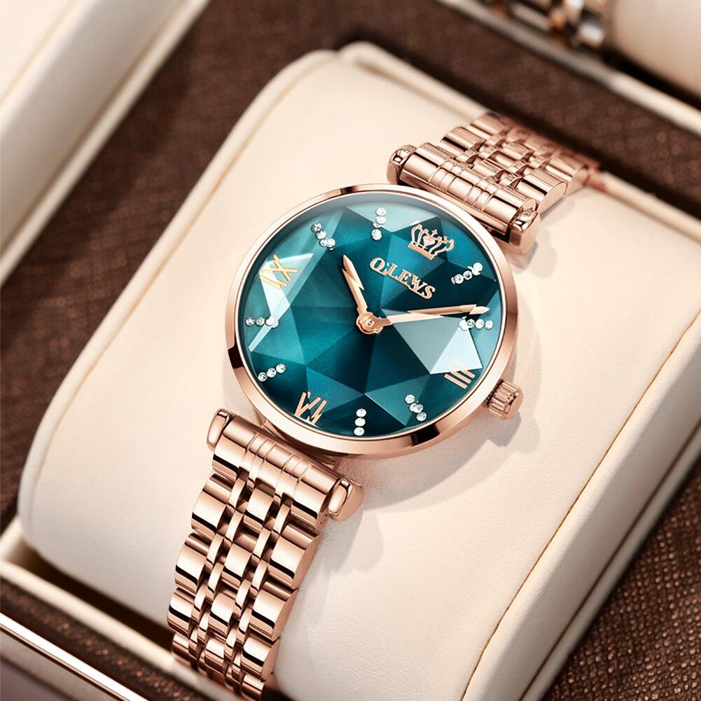 OLEVS العلامة التجارية ساعة موضة رائجة البيع ساعة نسائية مقاوم للماء ساعة نسائية ساعة كوارتز