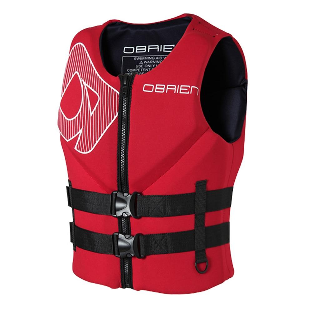 Неопреновые спасательные жилеты для мужчин и женщин, спасательные жилеты для плавания, рыбалки, серфинга, мотоцикла, лодки