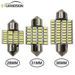 2pcs 1.44W 28mm 31mm 36mm 3014 24SMD 6000K C5W C10W Festoon LED Interior Map Dome Door Reading Panel Lights Bulbs White DC12V