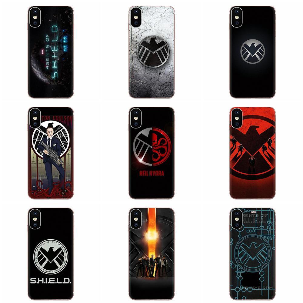 Suave de la cubierta del TPU del Marvel agentes de Shield S h que e l d para Huawei Mate 9 10 20 P P8 P9 P10 P20 P30 P40 Lite Pro Smart 2017
