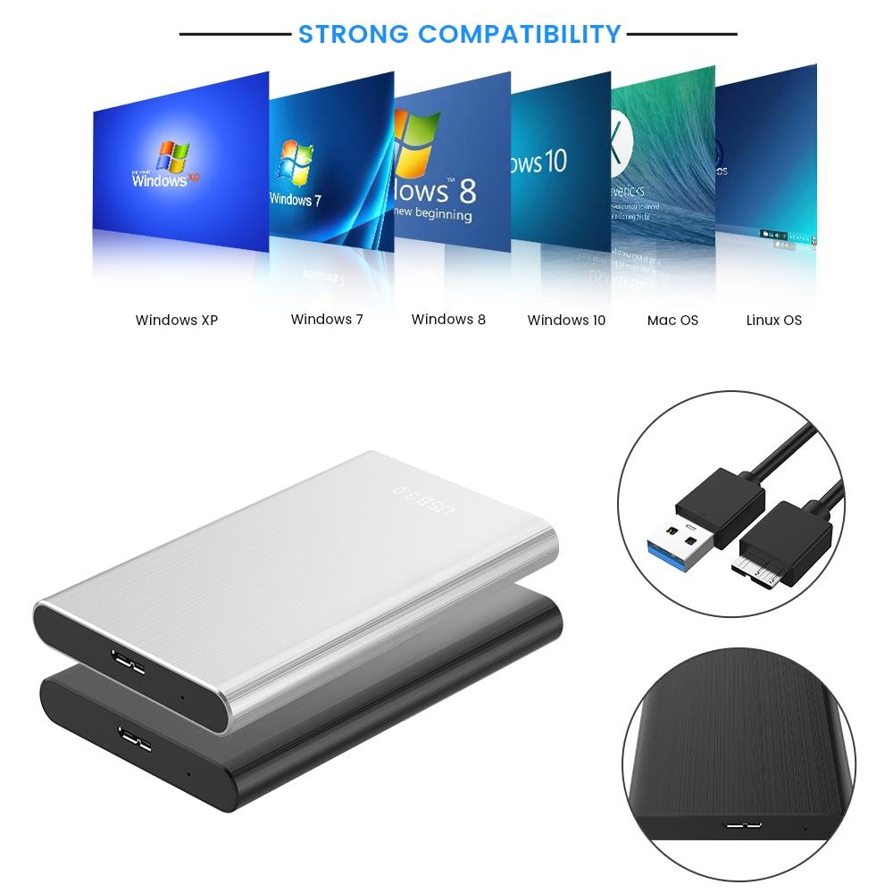 External Hard Drive USB 3.0 Mobile Hard Drive 500GB 1TB 2TB Storage Portable Mobile Hard Drive For Laptop Desktop
