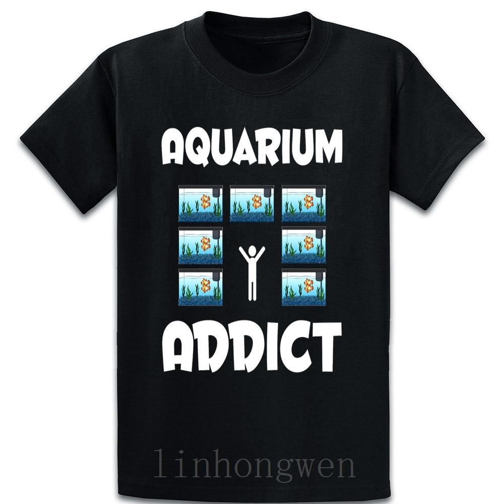 Camiseta Addict de Acuario, divertida e informal, Bonito traje de verano, tendencia de estilo europeo de algodón, talla grande, camiseta de S-5XL