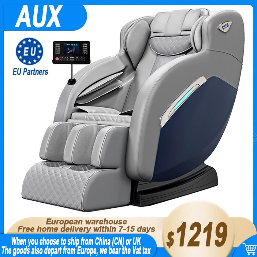 AUX A8 المهنية الرئيسية جهاز مساج كهربائي ، فاخر كامل الجسم التلقائي تدليك كرسي ، كرسي منعدم الجاذبية ، متعددة الوظائف أريكة