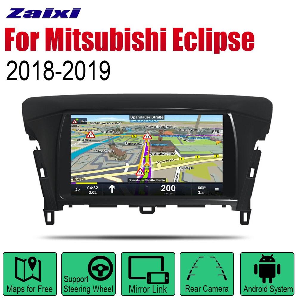 Android rádio do carro estéreo de navegação gps para mitsubishi eclipse 2018 2019 bt wifi 2din rádio do carro estéreo multimídia player
