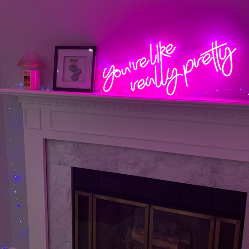 Custom Neon Sign You are like really pretty Neon Sign Bedroom Led Neon Light Wedding Party Decor Wall Decoration Ins Gift enlarge