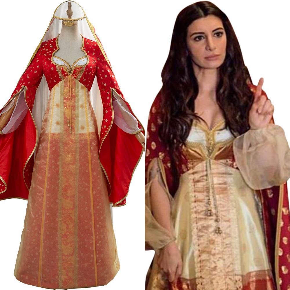 فيلم علاء الدين زي الياسمين علاء الدين تأثيري حلي الأميرة خادمة داريا فستان طويل هالوين أزياء تنكرية
