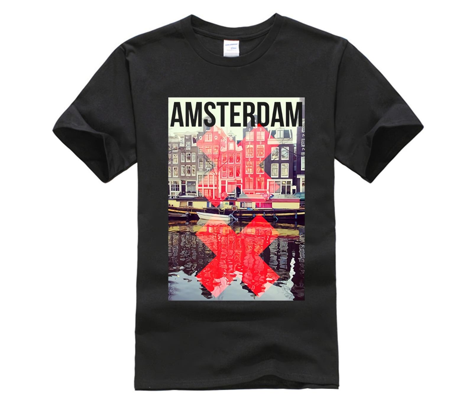 Camiseta de estilo moderno para hombre, camiseta de manga corta con cuello...