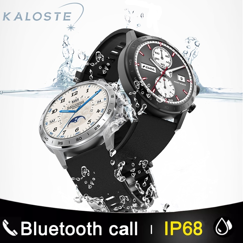 Review 2021 Wireless Charging Sport Smart Watches IP68 Waterproof Heart rate Smartwatch Mens Watches Fitness Bracelet For Android Apple