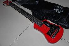 Wholesale Electric Guitar mini guitar travel guitar free bag free shipping In Red 120303