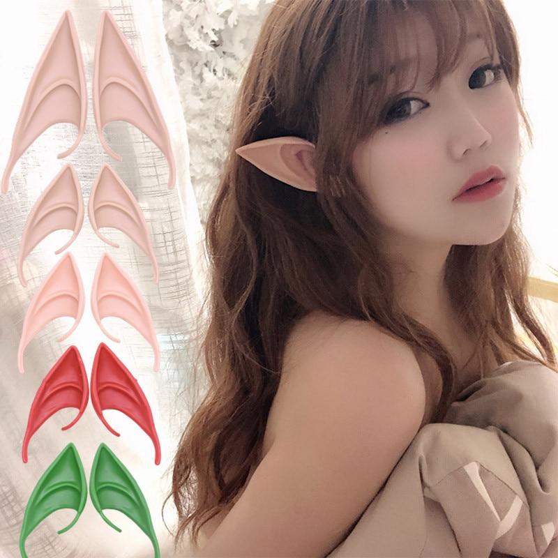 1 paar Mysterious Engel Elf Ohren Fee Cosplay Zubehör Halloween Party Latex Soft Spitz Tipps Falsche Ohren Kostüme Requisiten