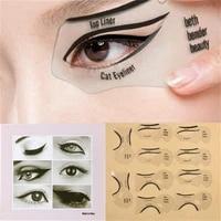 2 eyeliner molds drawing cat eyes lazy people drawing eyebrow artifact eye makeup eyebrow card female eye makeup beauty tool