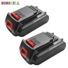 Bonacell 18 V/20 V 2000mAh Li-ion batterie Rechargeable outil de remplacement batterie pour BLACK & DECKER LB20 LBX20 LBXR20 L10