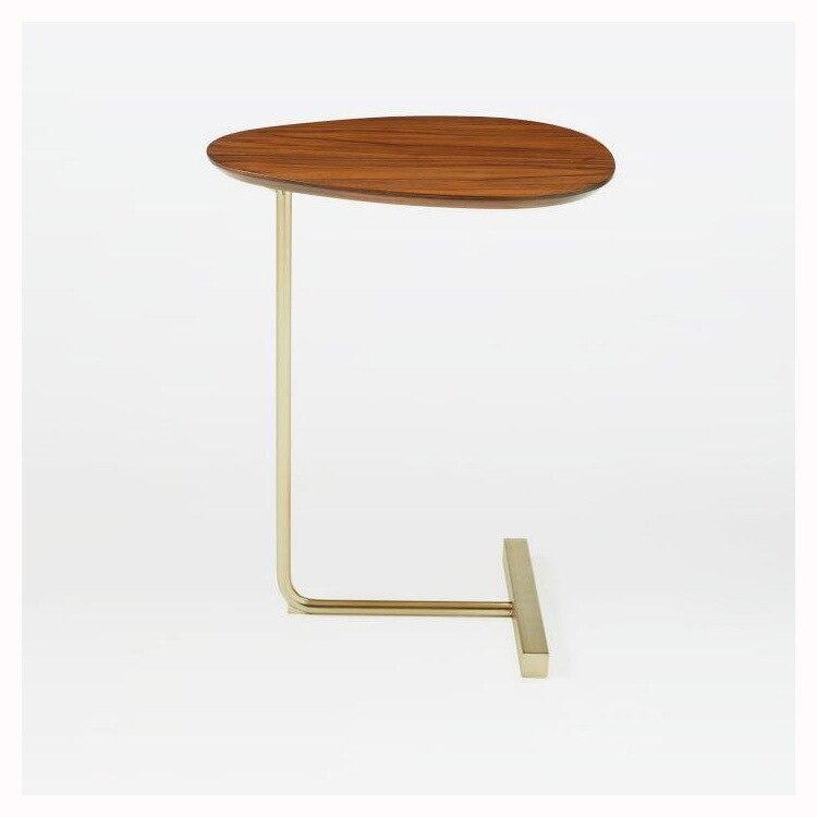K-STAR nórdicos arte del hierro Oval mesa de café de casa pequeña mesa de café dormitorio esquina mesa de salón sala de lectura de cabecera de la Mesa
