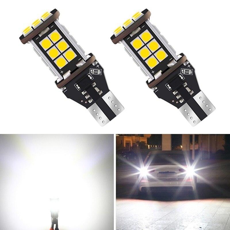 2x 1200Lm W16W T15 bombillas LED 3030SMD Canbus OBC Error libre LED Luz de respaldo lámpara inversa para Ford Focus Fiesta fusión Kuga F-150