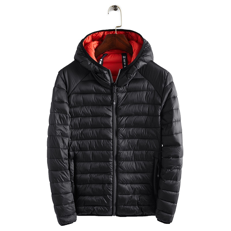 Famous brand winter comfortable warm men's cotton coat simple lightweight hooded multi-color cold cotton clothing men