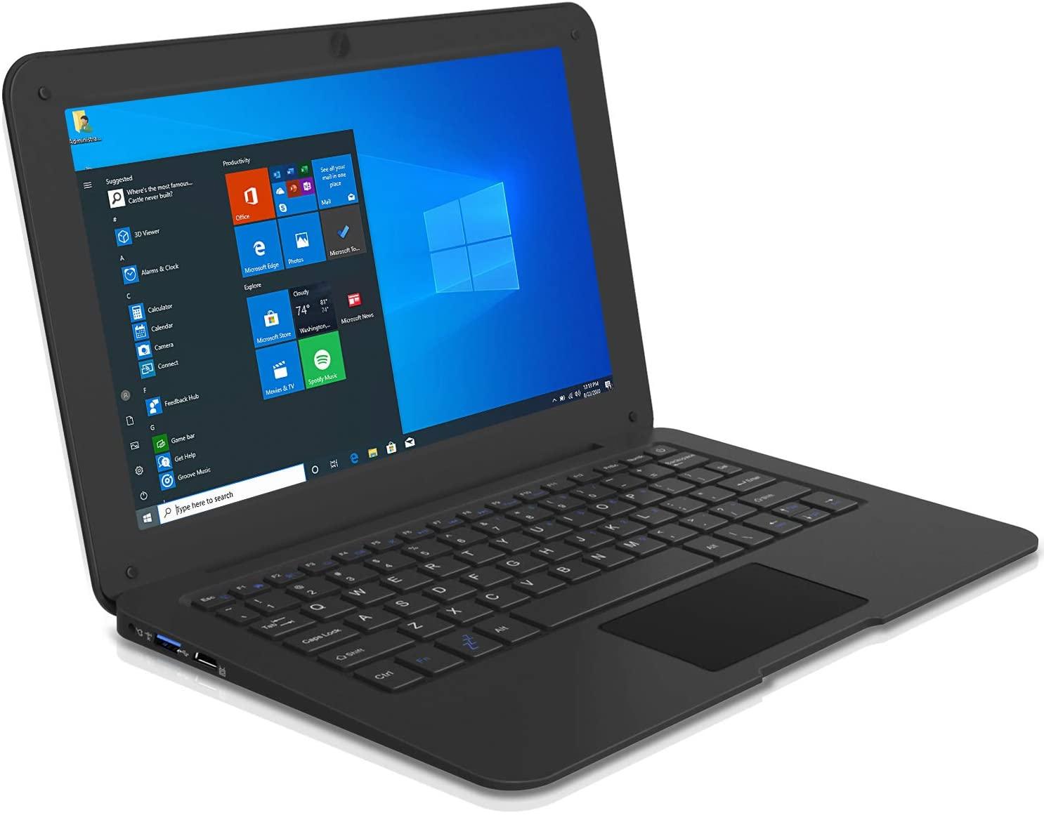 10.1 بوصة لاب توب محمول كمبيوتر مصغر رقيقة جدا دفتر مع إنتل اتوم Z8350 4GB RAM و 64GB التخزين مع Windows10 OS