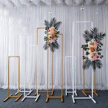 Étagère en fer forgé pour mariage   Paravent géométrique biseauté scène, support de fleur tridimensionnel, décoration arrière-plan, arc en fer forgé