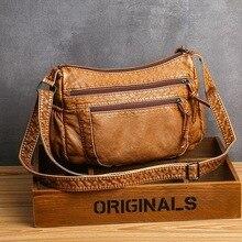 Mode pour sacs à main de luxe femmes sacs concepteur 2019 Vintage bandoulière en cuir Pu noir doux lavé sac à rabat