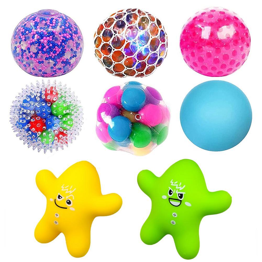 Шарик с давлением, особенный декомпрессионный шарик для винограда, ручной пинцет, вентиляционный шарик, светящийся цветной шарик, комбинац...