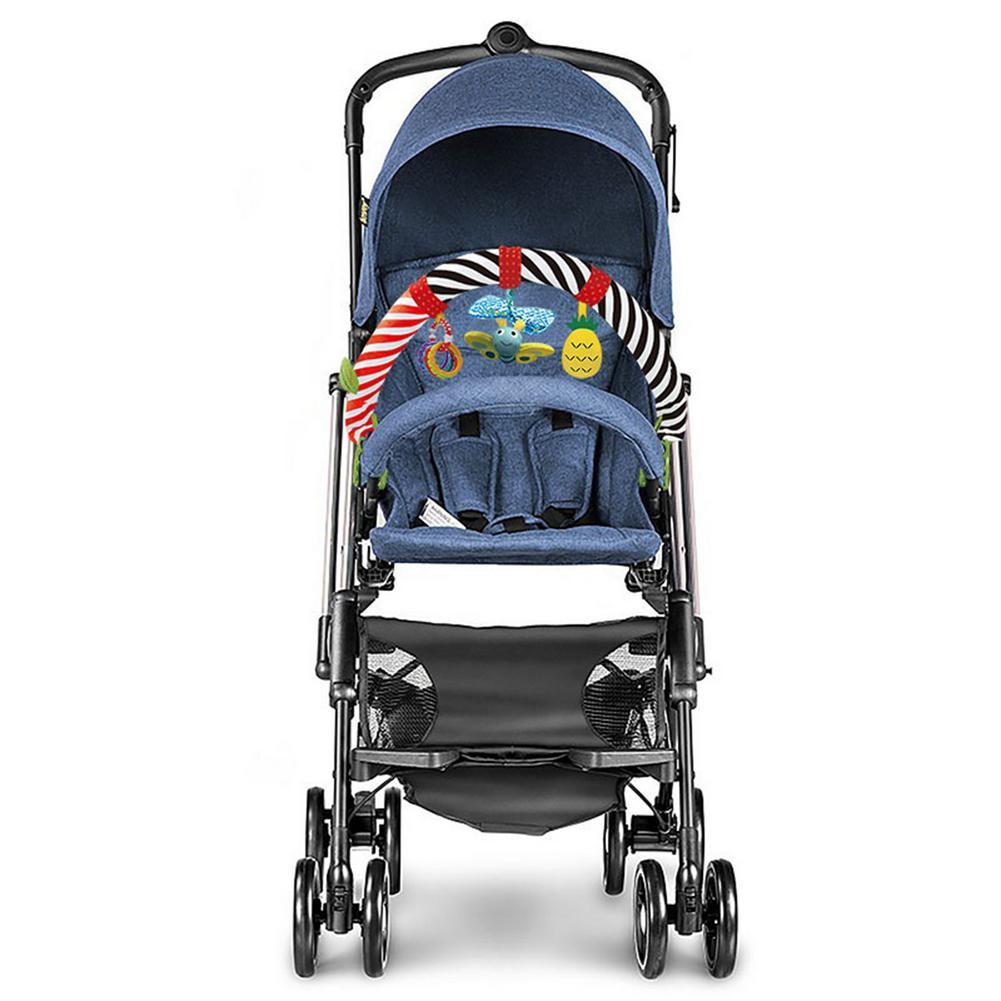 chocalho de brinquedo para carrinho de bebe clipe para cama arco iris pendente