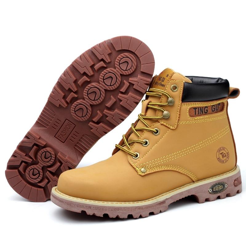 fabrica de venda quente couro homem bota sapatos de seguranca de aco toe h215